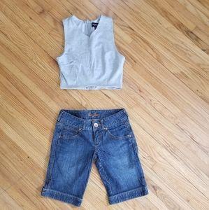 🌸 5/$35 Guess Mid Thigh Jean Shorts